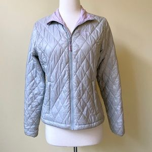 Mountain Hardware Insulated Silver Puffer Jacket
